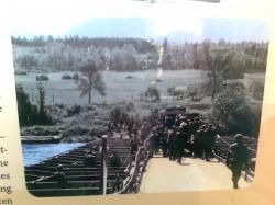 ZERO barbelés sur Meuse devant pont allemand!!